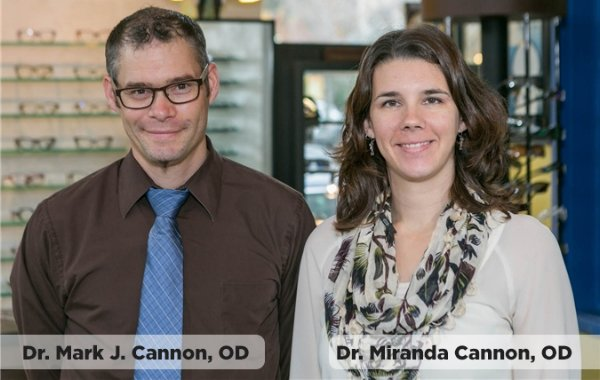 McChord optometrists Dr. Miranda Cannon and Dr. Mark Cannon